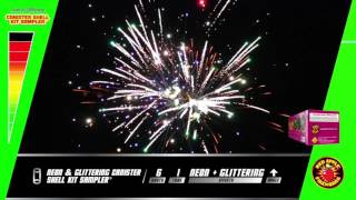2017 Neon/Glittering Canister Shell Kit Sampler Fireworks R-4665