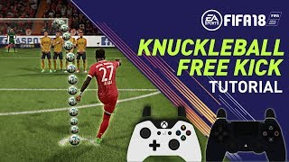 FIFA 18 TIROS LIBRES - TUTORIAL KNUCKLEBALL FREE KICK