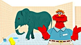 Sesame Street: Murray Cleans Up - Zoo Animal Cleaning - PBS Kids Games width=