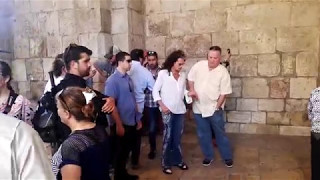 Steven Tyler from Aerosmith (American rock band), visiting the Old City of Jerusalem, Israel