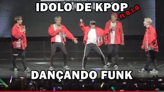 Boygroup coreano rebolando e dançando funk brasileiro ft B.I.G   Kpop idol twerking brazilian funk