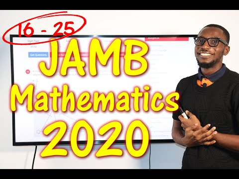 JAMB CBT Mathematics 2020 Past Questions 16 - 25