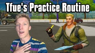 The Practice Routine That Made Tfue A God! - Fortnite Battle Royale