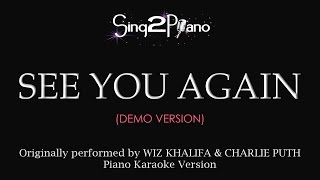 See You Again (Piano Karaoke demo) Wiz Khalifa & Charlie Puth
