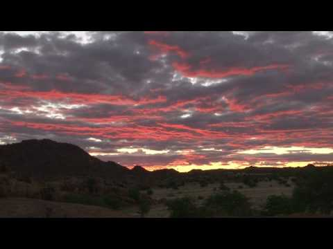 Sunset over Damaraland Namibia Africa