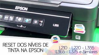 Reset dos Níveis de Tinta da Epson EcoTank L210 L220 L355 L365 L375 e Similares - SULINK
