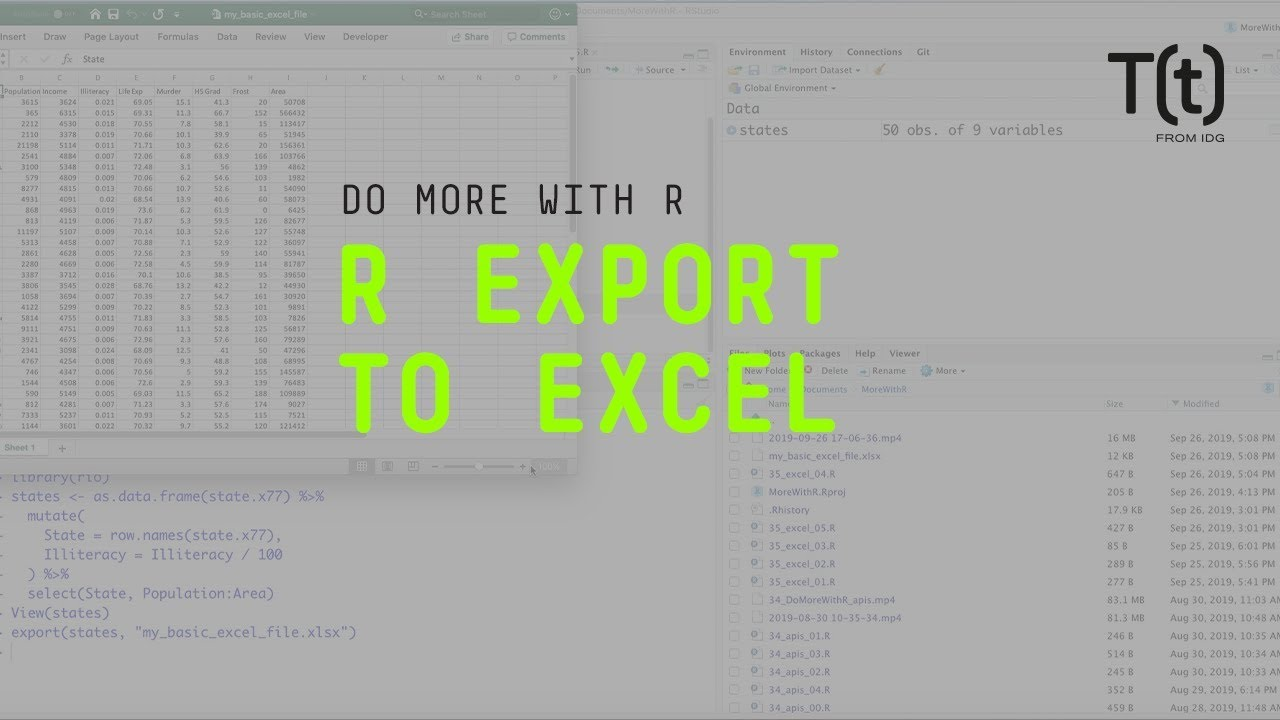 How to export to Excel with R