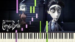 "[PIANO TUTORIAL] ""Victor's Piano Solo"" - Tim Burton's Corpse Bride (Piano Cover, Synthesia, Movie)"