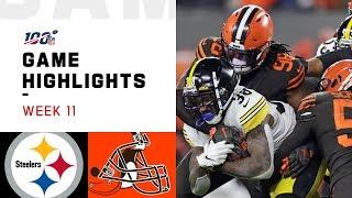 Steelers vs. Browns Week 11 Highlights   NFL 2019
