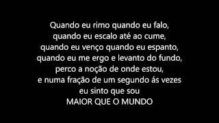 Xeg - Maior que o mundo (lyrics)