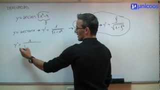 Imagen en miniatura para Derivada de ARCOSENO funcion trigonometrica inversa