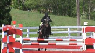 Porschia at St Christophers Horse Show 2012 JrAO Jumpers Saturday