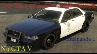 Como tirar o som da sirene do carro da Policia no GTA V e apenas ficar piscando