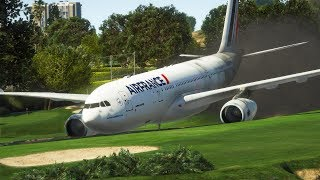 A330 Emergency Landing On A Golf Course | GTA 5