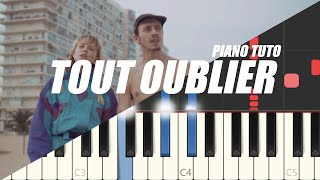Angèle feat. Roméo Elvis - Tout Oublier (Easy Piano Tutorial)