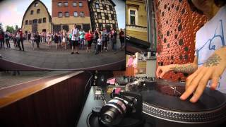 Street Performance by WHATTAGIRLZ 2015 female duo DJ + DRUMS