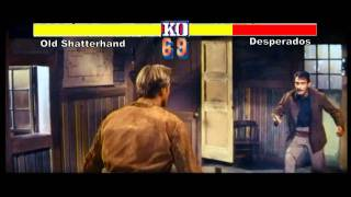 Old Shatterhand vs. Desperados as Arcade Videogame ( Street Fighter 2 Cover )
