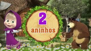 Convite Virtual Masha e o Urso / Masha and the Bear