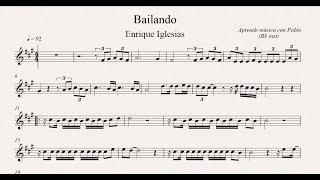 BAILANDO: Bb inst (clarinete,trompeta,saxo sop/tenor)(partitura con playback)