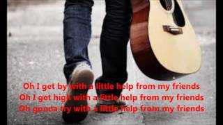 With A Little Help From My Friends by The Beatles (cover) with lyrics