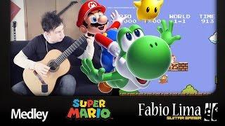 Super Mario Bros #1 Medley Fingerstyle Guitar by GuitarGamer (Fabio Lima)