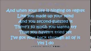 You Can Rely On Me - Jason Mraz - Lyrics