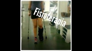 Meu trauma no tornozelo: Fisioterapia.