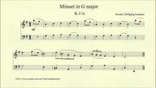 Mozart, Minuet in G major, K 1 1e