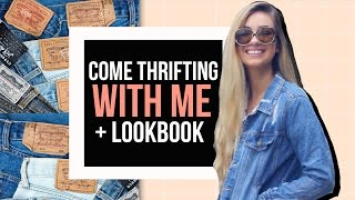 Come Vintage Thrift Shopping with Me + 4 OUTFIT IDEAS!