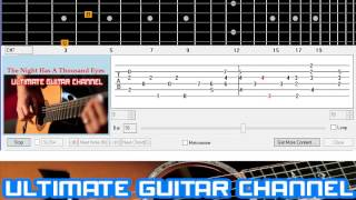 [Guitar Solo Tab] The Night Has A Thousand Eyes (Bobby Vee)