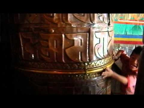 Prayer wheel Nepal .AVI
