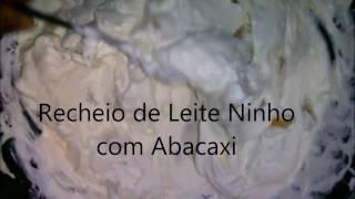 Recheio de Leite Ninho com Abacaxi