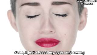 MILEY CYRUS   Wrecking Ball Lyrics + New Type OF VIDEO EXCLUSIVE FROM NewLyricsChannel1
