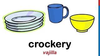 Curso de inglés 44 - Utensilios de cocina en inglés Partes de la casa cosas accesorios vocabulario