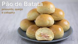 Pão de Batata recheado c/ presunto queijo e catupiry | Receita Sandra Dias