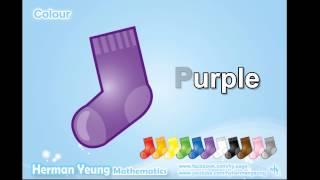 Baby Vocabulary - Sock Colour (English)