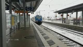 BR185 + BR193 Offroad Vectron mit Container Zug durch denn Ingolstadt HBF