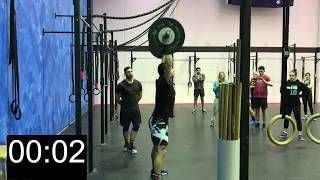 Zac Hare does CrossFit workout Fran in 1:47