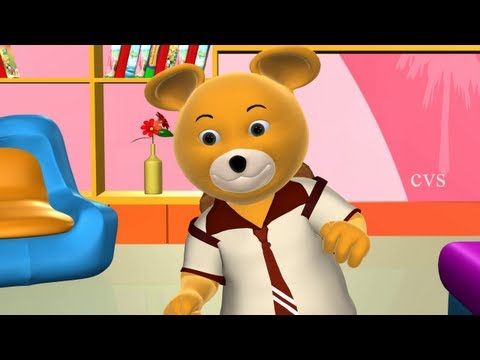 Teddy Bear Teddy Bear turn around - 3D Animation English Nursery ...