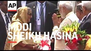 Modi welcomes Bangladesh Prime Minister Sheikh Hasina