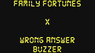 Family Fortunes 'X' Wrong Answer 'Uh-Uh' Buzzer/Sound Effect