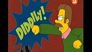 Los Simpson Homero y Ned al estilo de Batman y Robin