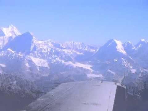 Nepal Himalaya (Everest) mountain flight.MOV