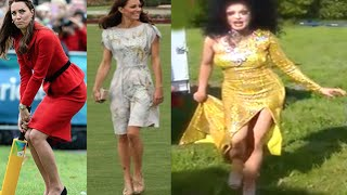 KATE MIDDLETON'S CHALLENGE WALKING ON GRASS WITH HIGH HEELS
