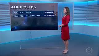 Rodrigo Bocardi fala Bom Dia para Eliana Marques no JN