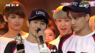 【百度EXO吧】150616 THE SHOW EXO LOVE ME RIGHT一位授賞 (中字)