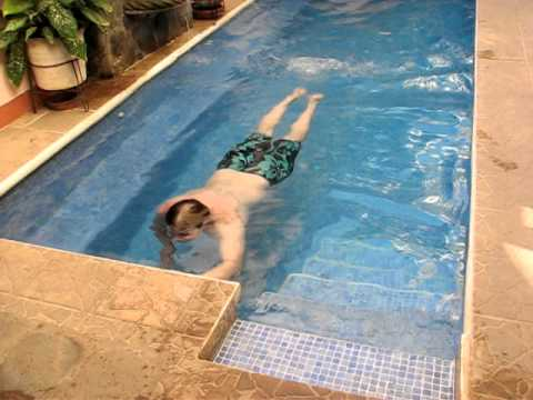 Doug swims entire length of pool at Hotel Casa SanFrancisco in Nicaragua