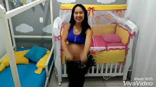 Grávida dançando Zumba/ 38 semanas / La Bicicleta - Shakira