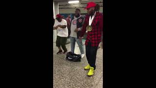 homeless guys in subway shocks everyone very talented