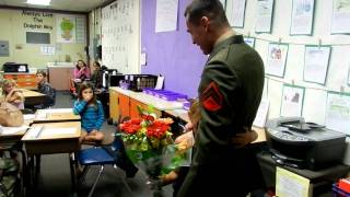 STUNNING VIDEO - Daddy Stuns His Daughter In Her Classroom After Coming Home from Afghanistan!